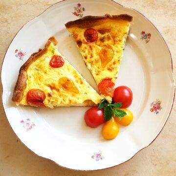 Tarta porowo-serowo-pomidorkowa